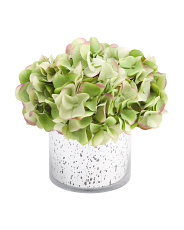 11in Hydrangea In Glass Pot