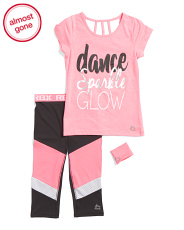 Big Girls 2pc Active Capri Set With Wristband