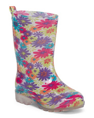 Girls Tropical Jelly Rain Boots