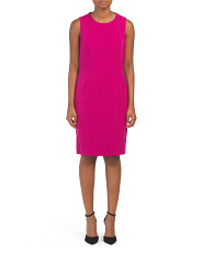 Jewel Neck Sheath Dress