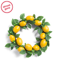 Made In India 17in Lemon Wreath