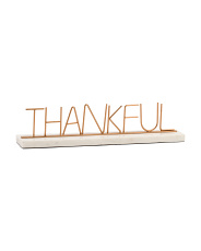 Made In India Thankful Marble Base Sign