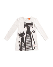 Little Girls Kitty Cat Ponte Dress