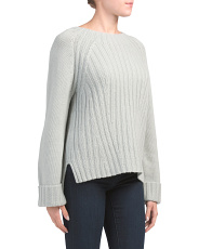 Wool Cashmere Blend Raglan Sweater