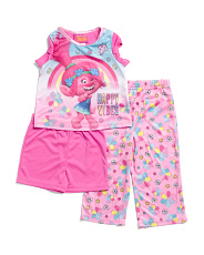 Toddler Girls 3pc Trolls Poppy Sleep Set