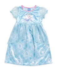 Toddler Girls Deluxe Frozen Elsa Sleep Gown