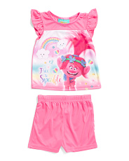 Toddler Girls Trolls Short Sleep Set