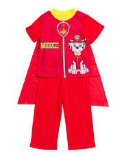 Toddler Boys Paw Patrol Sleep Set With Cape