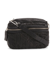 Colorado Handwoven Mini Leather Crossbody