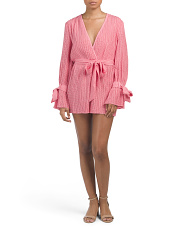 Deep V Romper With Tie Detail