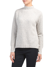 Textured Mock Neck Sweater