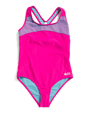 Big Girls One-piece Mesh Performance Swimsuit