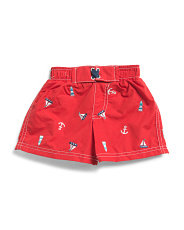 Infant Boys Embroidered Swim Trunk
