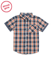 Little Boys Short Sleeve Woven Top