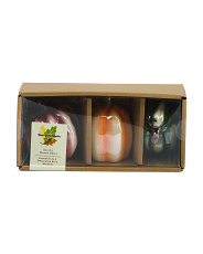 Set Of 3 Boxed Ceramic Pumpkins