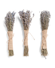 Set Of 3 Lavender Bouquets