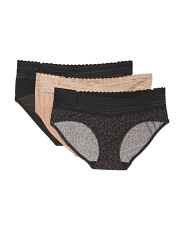 3pk Micro Hipster Panties With Lace