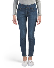 2 Button High Waist Ankle Jeans