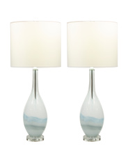 Set Of 2 Swirled Table Lamps