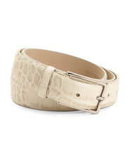 Made In Italy Leather Statement Belt
