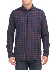 Traditional Plaid Long Sleeve Top
