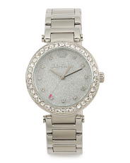 Women's Victoria Crystal Bezel And Dial Bracelet Watch