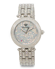 Women's Cali Crystal Covered Bracelet Watch