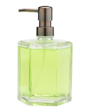 Coconut Lime Hexagon Glass Hand Soap