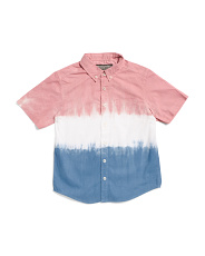 Big Boys Americana Tie Dye Short Sleeve Shrit