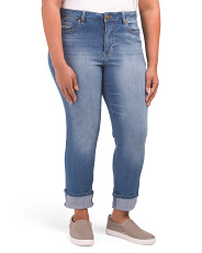 Plus Cuffed Girlfriend Jeans