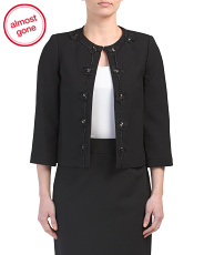 Petite Jacket With Flower Detail