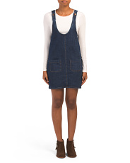 Juniors Denim Jumper Dress
