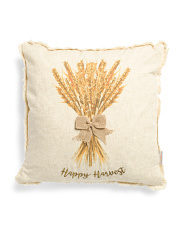 20x20 Wheat Stalk Linen Pillow