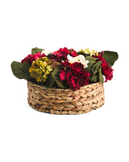 14in Hydrangea Pinecone Berry In Basket