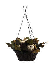 Pumpkin Magnolia Leaves Hanging Basket