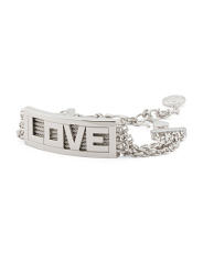 Sterling Silver And Stainless Steel Forever Love Bracelet