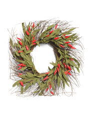 26in Chili Pepper Twig Wreath