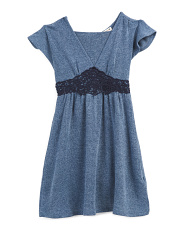 Big Girls Ruffle Sleeve Dress