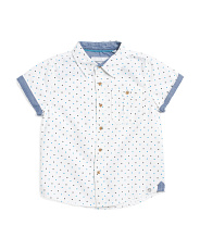 Little Boys Polka Dot Woven Top