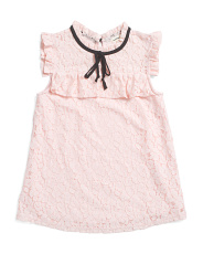Big Girls Lace Tie Front Top