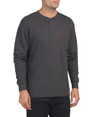 Long Sleeve Heather Thermal Henley