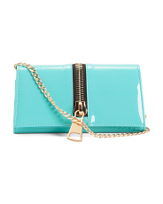Clutch With Oversized Zipper Detail