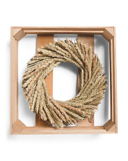 10in Natural Wheat Wreath