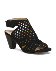 Peep Toe Perforated Sandals
