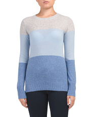 Cashmere Color Block Pullover Sweater