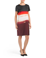 Brushstroke Shift Dress
