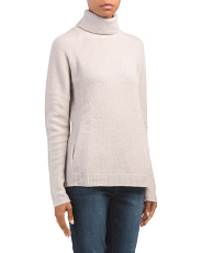 Turtleneck Cashmere Sweater With Pockets