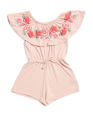 Big Girls Floral Senorita Romper