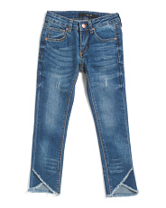Big Girl Mid Rise Skinny Ankle Jeans