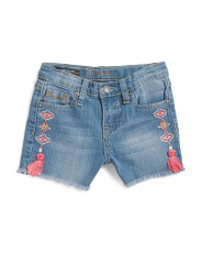 Little Girls Boho Tassel Shorts